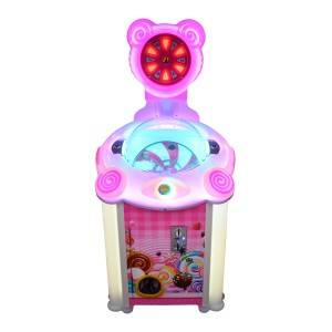 Coin operated lollipop vending game machine candy machine