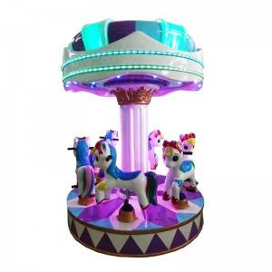 coin operated carousel kiddie rides game machine for 6 kids