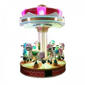 coin operated Merry-Go-Round horse kiddie rides game machine for 6 players
