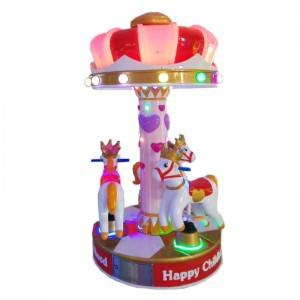 coin operated horse kiddie rides game machine for 3 kids