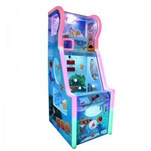 Kids coin operated ticket lottery game machine fishing ball game machine