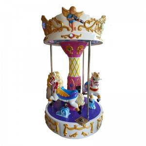 Amusemets park coin operated  carousel kiddie rides game machine for 3 kids