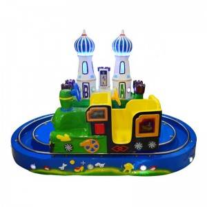 Amusement park coin operated kids ride on little castle railway train for 2 kids