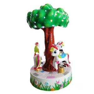 coin operated little carousel for 3 players kiddie rides game machine