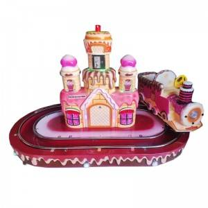 coin operated kiddie ride cake castle train for 2 kids