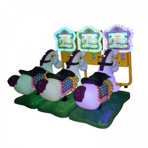 Hot-selling Car Kiddie Ride - Coin Operated 3d Horse Kiddie Ride Video Games Swing Machine – Meiyi