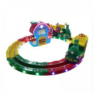 whosale coin operated kiddy ride little train game machine for 4 players