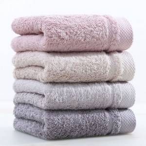 Factory wholesale China Pure Color Natural Organic Cotton Hand Towels