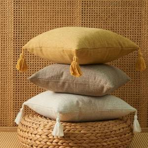 New Arrival 100%Polyester Linen Custom OEM Design Sofa Throw Decorative Pillow Case