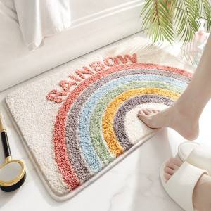Hot-selling China New Colourful water absorbent  anti slip Bath Mat