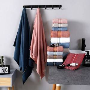 Quoted price for China Manufacturers Wholesale Good Quality Cheap Price Face Bath Towel Set