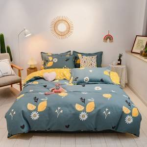 Hot sale home textile cheap price soft comfortable 100% cotton luxury comforter best bed sheets bedding set for home