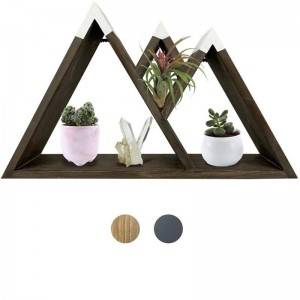 Floating mount Mounted mountain Wood Wall shelf Shelves for Living Room Bedroom Bathroom