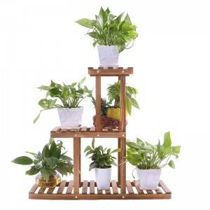 Wood Plant Stand Indoor Outdoor Multi Layer Flower Shelf Rack Holder in Garden giardino scaffale piante