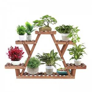 Pine Wood Plant Stand Indoor Outdoor Multi Layer Flower Shelf Rack Holder in Garden  giardino scaffale piante