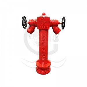 OEM China Brass Oblique Landing Valve - 2 way fire hydrant  – World Fire Fighting Equipment