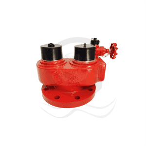 High definition Fire Hydrant Valve Landing Valve - 2 way breeching inlet  – World Fire Fighting Equipment