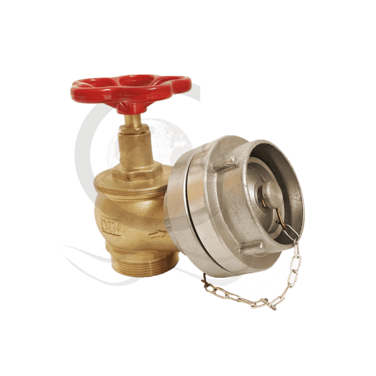 Factory Outlets Din Landing Valve With Storz Cap - Din landing valve with storz adapter with cap  – World Fire Fighting Equipment