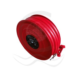 Fire hose reel with globe valve