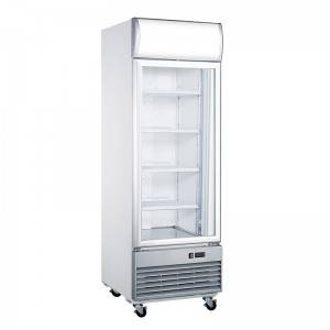 Commercial Upright Single Glass Door Display Freezer With Fan Cooling System