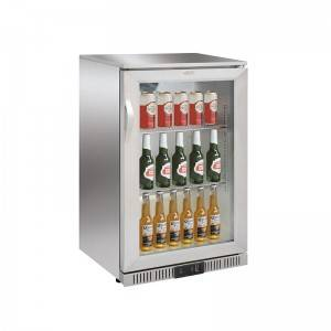 Commercial Single Swing Glass Door Beer & Coke Drink Bottle Back Bar Cooler Fridge
