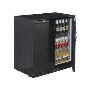 Small Double Solid Door Cold Drinks And Beverage Back Bar Cooler Fridge