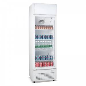 Commercial Upright Single Swing Glass Door Merchandiser Refrigerator With Fan Cooling System