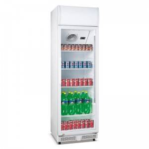 Commercial Upright Single Glass Door Beverage Cooler Fridge With Fan Cooling System