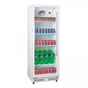 Upright Single Glass Door Cold Drink Bar Display Fridge With Direct Cooling System