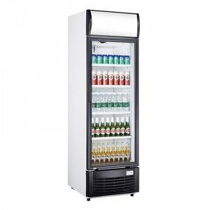 Upright Single Glass Door Display Chiller Fridge With Direct Cooling System