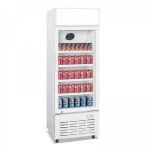 Upright Single Glass Door Cooler Fridge With Direct Cooling System