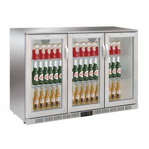 Undercounter Triple Swing Or Sliding Glass Door Drinks & Beverage Back Bar Cooler Fridge