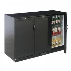 Small Triple Solid Door Beer Beverage And Cool Drinks Back Bar Refrigerator