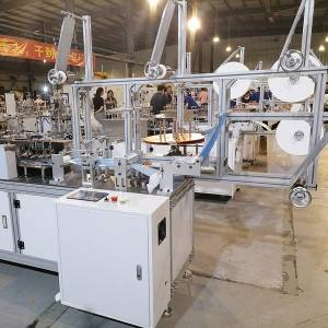 OEM Manufacturer Mask Produce Machine Line - High speed servo motor mask body cutting machine – Naiwei