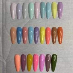 OEM Factory for Peel Off Gel - Macaron color gel polish collection  – NEW COLOR