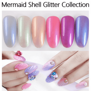 Mermaid Gel Nail Polish Shell shimmer gel polish Blazing nail gel Rainbow nail art  from China professional uv gel factory