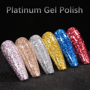 Platinum Gel Polish Shinny shimmer color coating gel from China professional uv gel factory