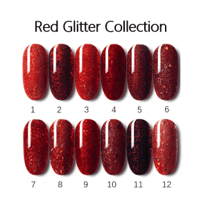 Red Glitter Gel Nail Polish Shinny shimmer color coating gel from China professional factory salon gel