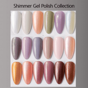 Shimmer Gel Polish shell nail gel pearl gel nail polish elegent nail art effection from China professional uv gel factory