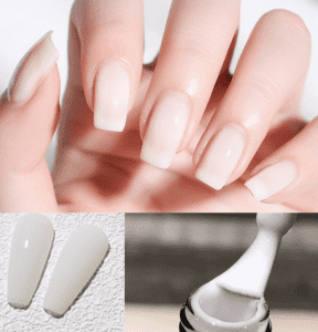OEM/ODM Manufacturer Nail Polish Gel - Free sample French White gel polish/Semipermanent gel polish OEM and customized packaging are available from professional manufactuer  – NEW COLOR