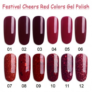 Original Factory Acrylic With Gel Polish - Red Colors Gel Nail Polish – NEW COLOR