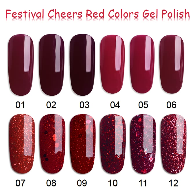 Hot sale Yellow Gel Polish - Red Colors Gel Nail Polish – NEW COLOR