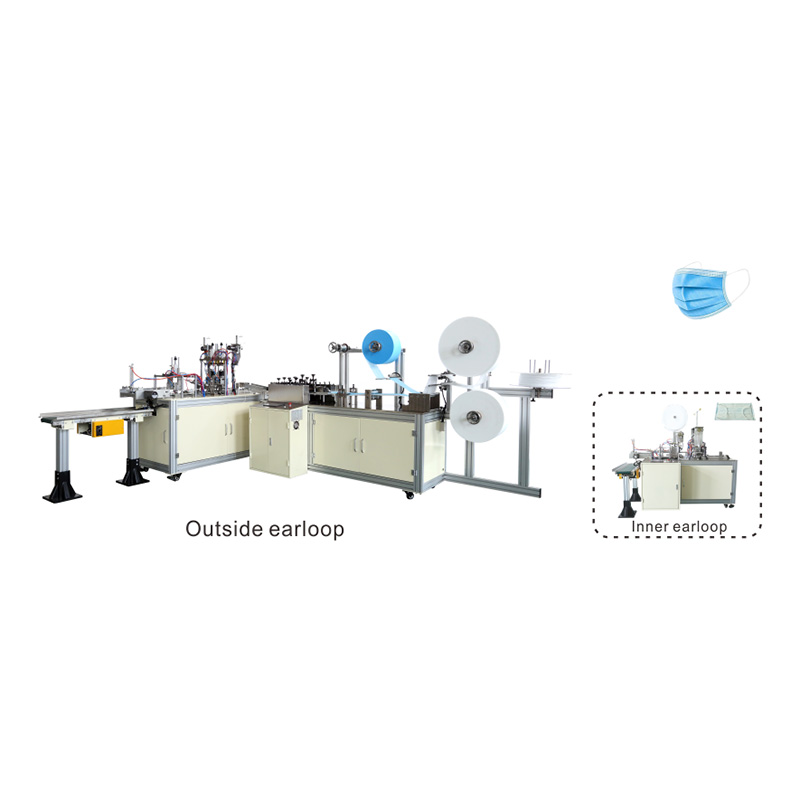 China wholesale Sponge Face Mask Machine - OK-175A Type Plane Ear Loop Mask 1+1 Production Line – OK Featured Image