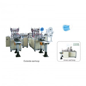 Factory supplied Mouth Cover Mask Making Machine - OK-175B Type Plane Ear Loop Mask 1+2 High Speed Production Line – OK