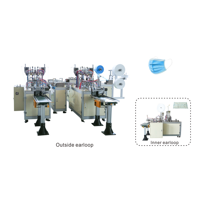 Best quality Kn95 Mask Plastic Film Packing Machine - OK-175B Type Plane Ear Loop Mask 1+2 High Speed Production Line – OK