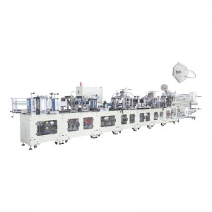 Professional Design Valved Cup Mask Machine - OK-260A Type Folded Ear Loop KN95 Mask Automatic Production Line – OK