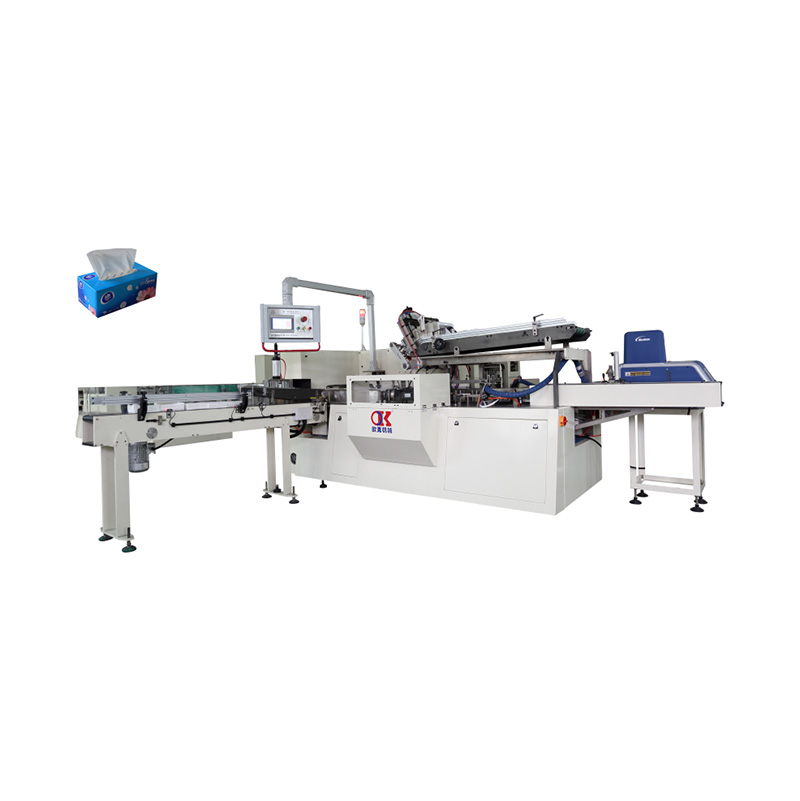 OK-100B Type Full-Auto Box Tissue Cartoning Machine