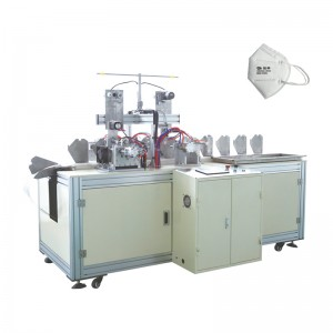 2020 wholesale price 3 Ply Disposable Plane Mask Making Machine - OK-206 Type KN95 Folded Mask Ear Loop Welding Machine – OK