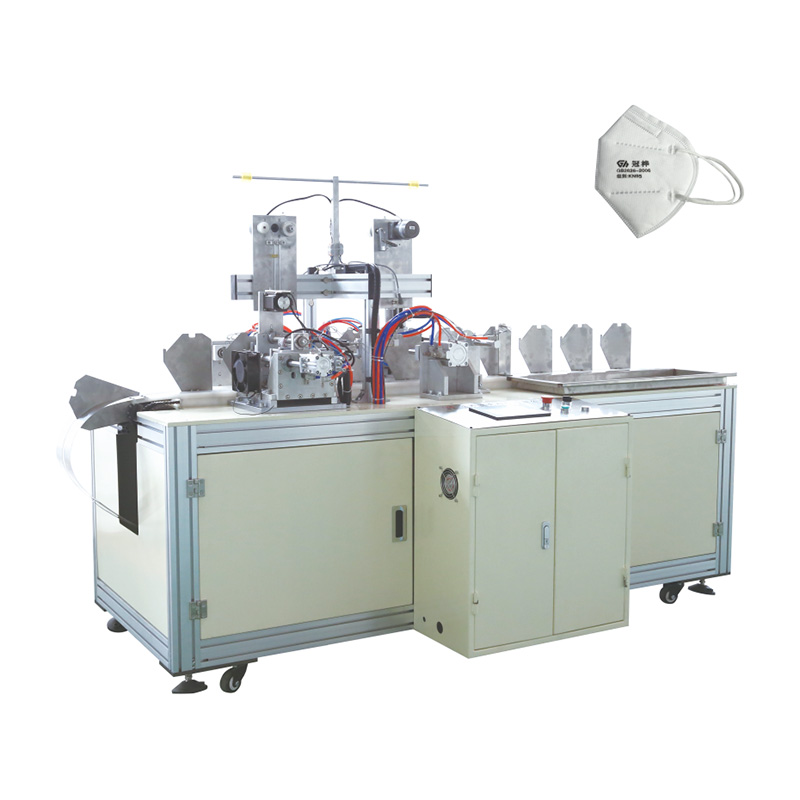 Factory making Disposable Mask Ear Loop Welding Machine - OK-206 Type KN95 Folded Mask Ear Loop Welding Machine – OK