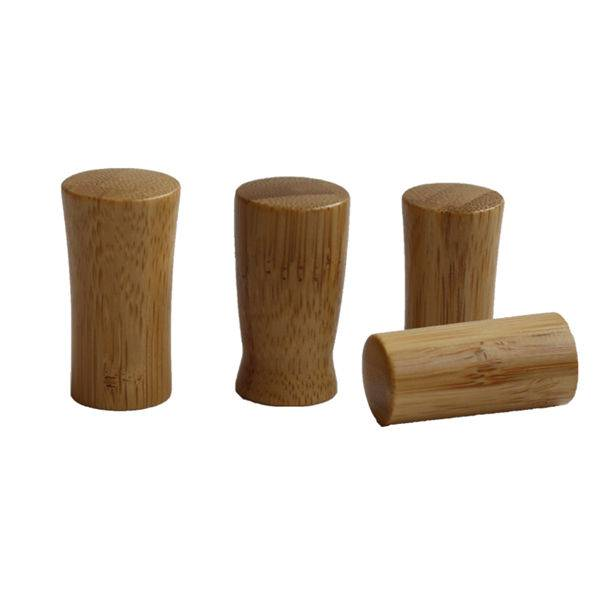 Bamboo wooden cap for nail polish bottles